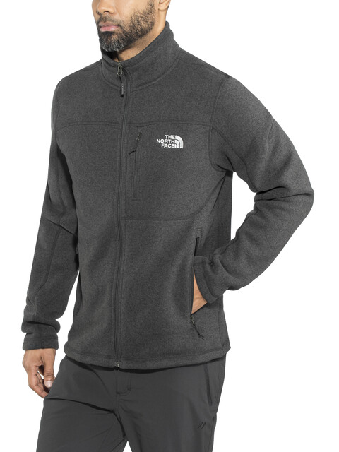 The North Face Gordon Lyons Full Zip Fleece Jacket Men TNF Black Heather